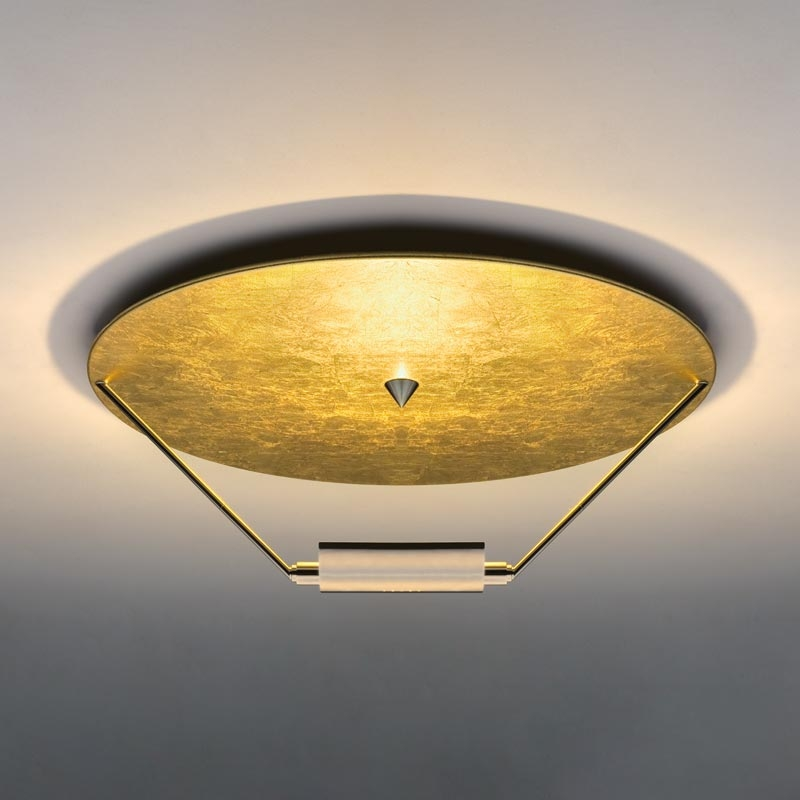 Deckenleuchte gold Blattgold Eggers Einrichten Interior Design Muenchen