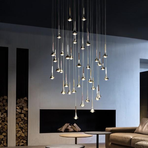 Haengelampe Pendelleuchte Studio Italia Rain modern Eggers Einrichten Interior Design Muenchen