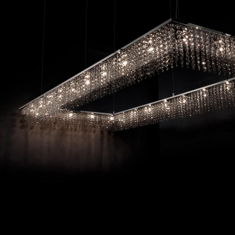 Ilfari sky cycles rectangle klassisch Kristallleuchte Eggers Einrichten Interir Design Muenchen