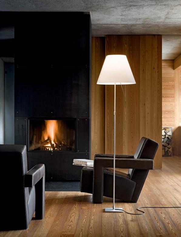 Lampen Leuchten Stehleuchte Schirmleuchte weiß Grande Constanza Luceplan Eggers Einrichten Interior Design Muenchen
