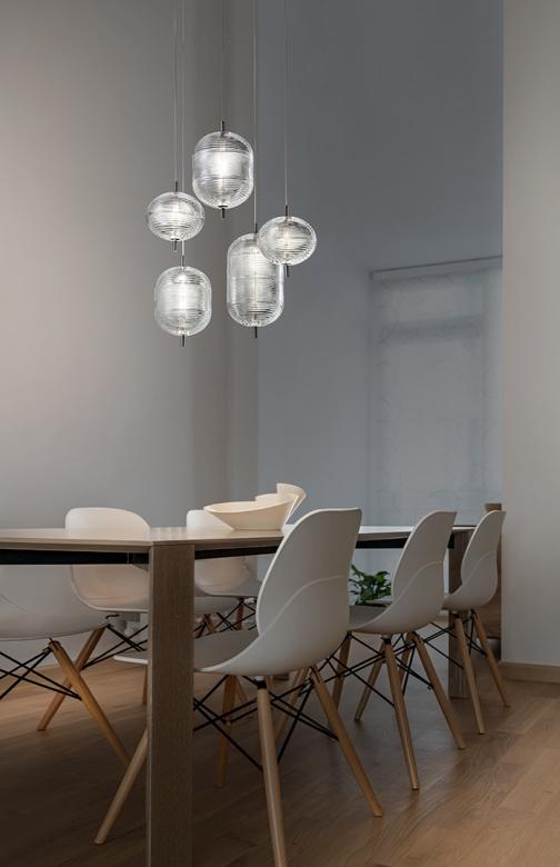 Pendelleuchte Jefferson Glas klar Studio Italia Eggers Einrichten Interior Design Muenchen 2