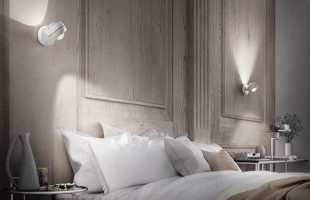 Wandleuchte Linsenleuchte Nautilus weiß Studio Italia Eggers Einrichten Interior Design Muenchen