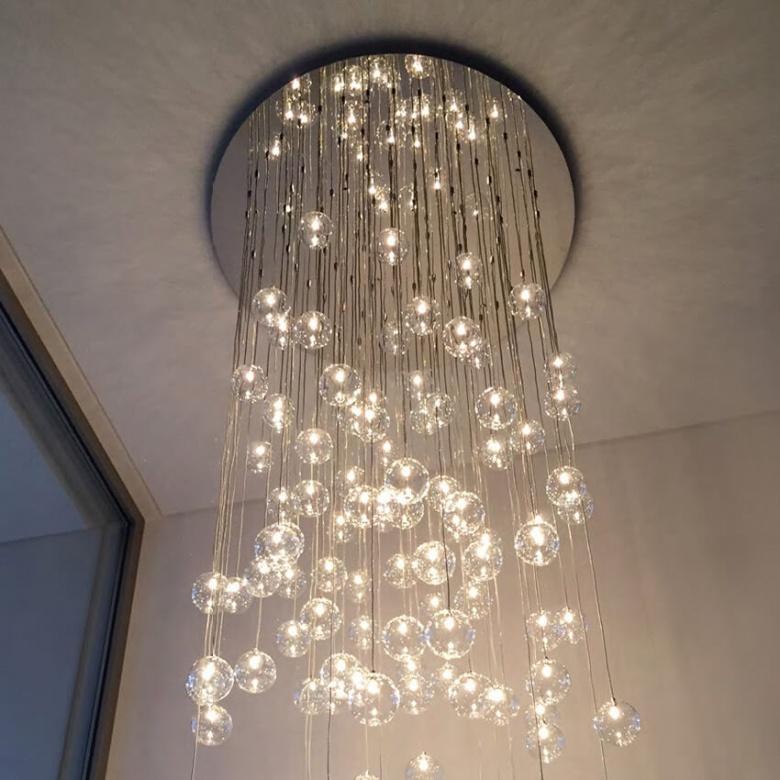 lampe Ilfari Ballroom Glaskugel Pendelleuchte Eggers Einrichten Interir Design Muenchen