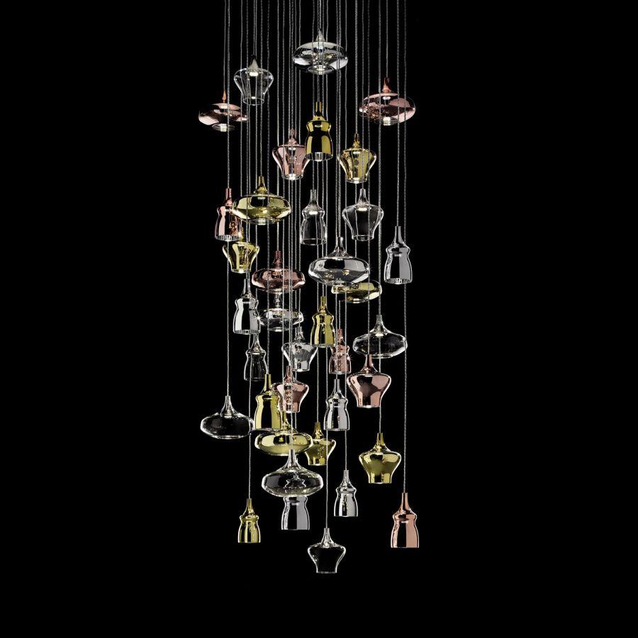 studio italia nostalgia glass Haengelleuchte modern Eggers Einrichten Interior Design Muenchen