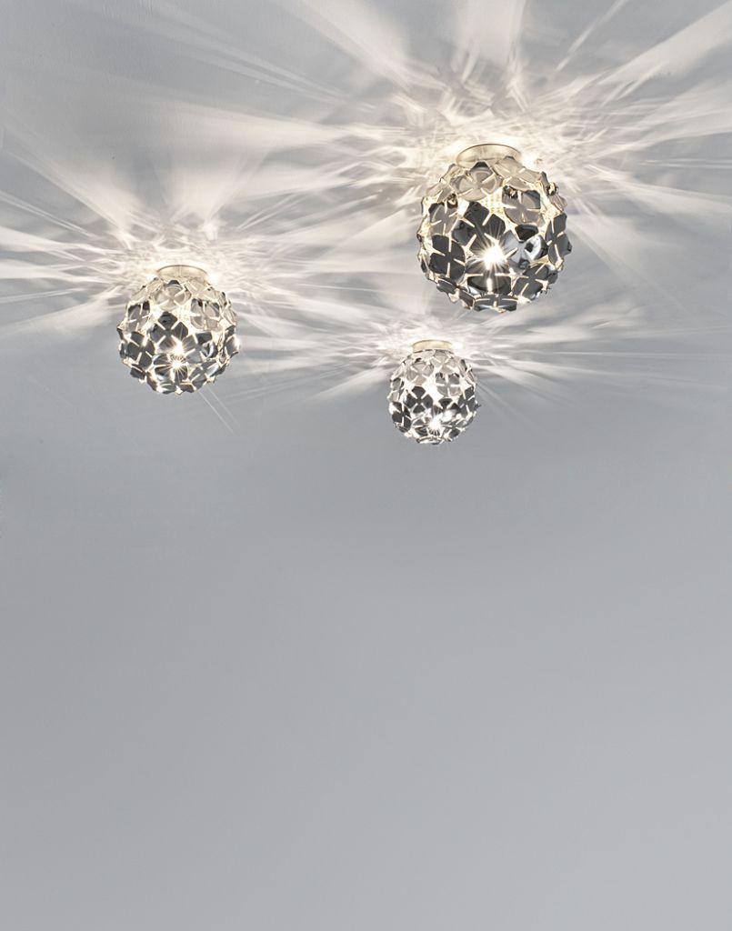 Designerleuchte Deckenlampe chrom terzani luce pensata ortenzia modern Eggers Einrichten Interior Design Muenchen