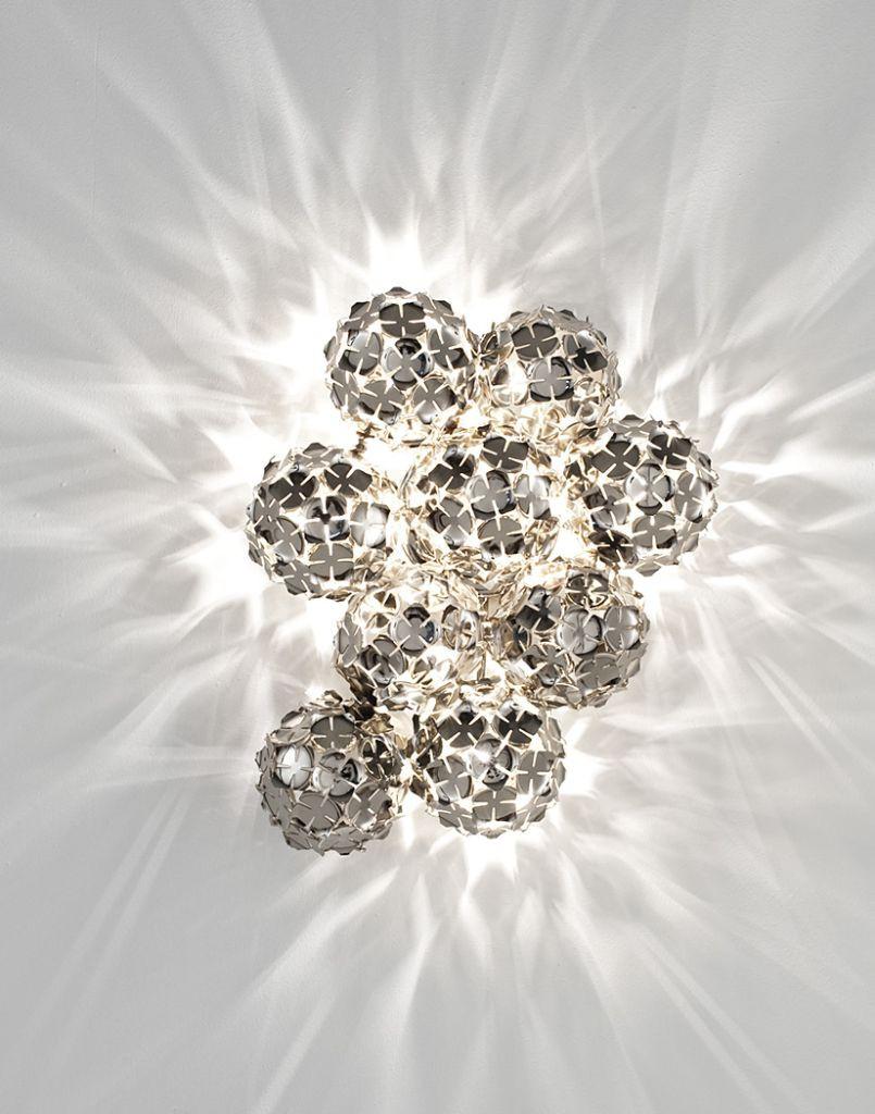Designerleuchte Wandlampe chrom terzani luce pensata ortenzia Eggers Einrichten Interior Design Muenchen