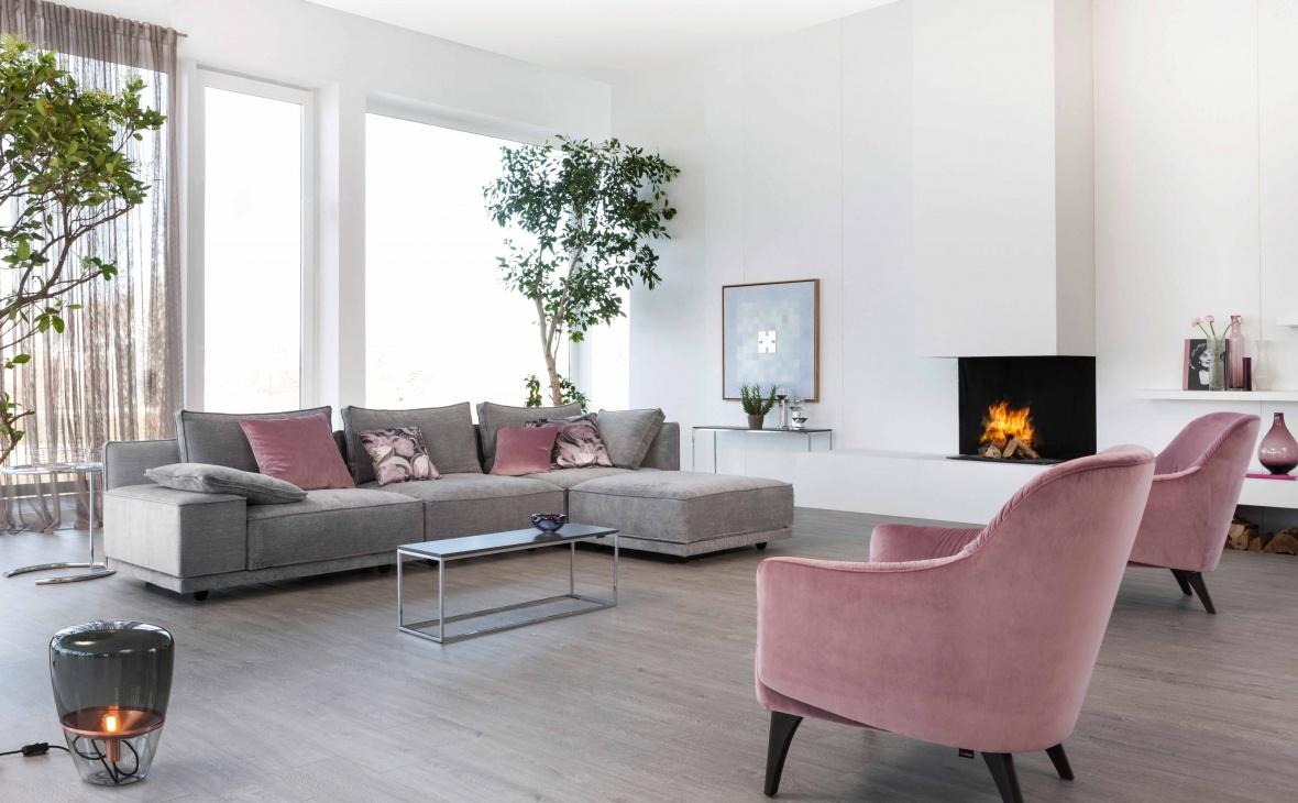 Einrichtungsidee Wohnzimmer Grau Rosa Caseconrad Com