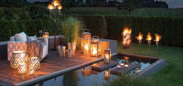 Accessoires Fink Windlicht romantische Dekoration modern Feuerstelle Eggers Einrichten Interior Design Muenchen